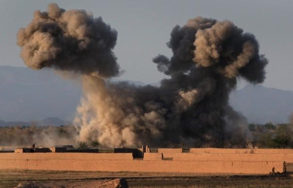 U.S. airstike in Now Now Zād, Helmand, Afghanistan
