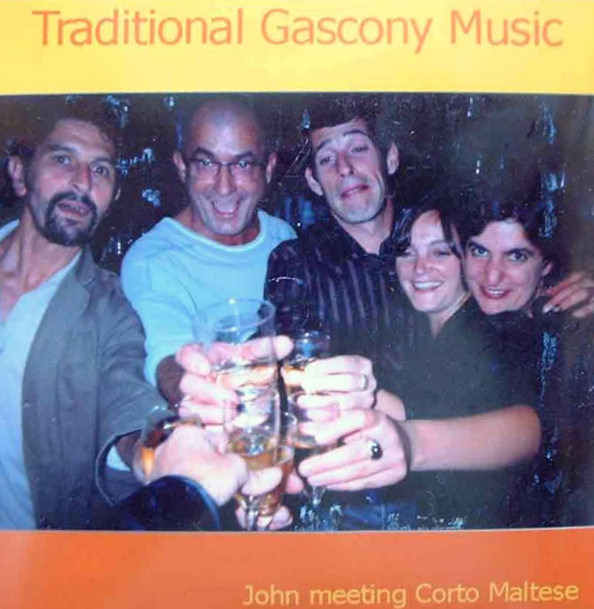 This is some of the community I found in Auch, at Corto Maltese, the dinner club and Auch's alternative society's music and meeting place. Serge, my host and owner of Corto Maltese is second from left. It was a creation of Michael, who is taking the photo and who gave it to me. Inside is his own global taste in music.