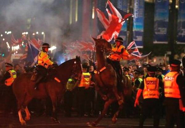 Loyalist supporters of union with the UK