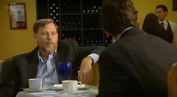 Thomas J. Barfield speaking with Rory Stewart.