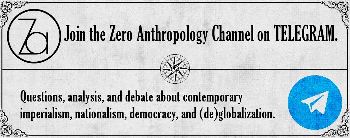 ZERO ANTHROPOLOGY ON TELEGRAM